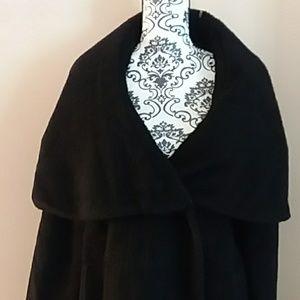Elie Tahari Wool Alpaca Blend Black Coat